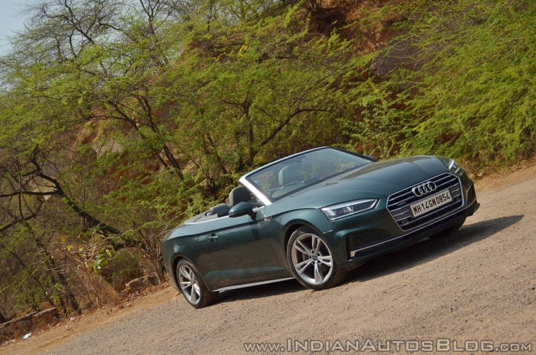 Audi A5 Cabriolet review front three quarters tilt