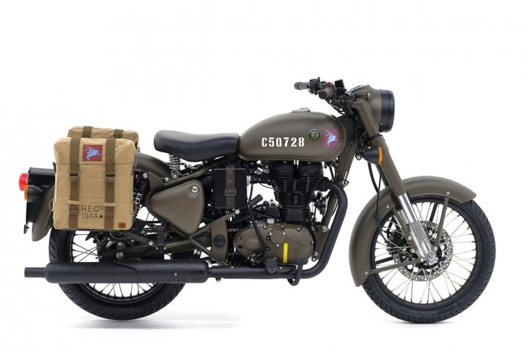 Royal Enfield Classic 500 Pegasus Limited Edition Service Brown profile