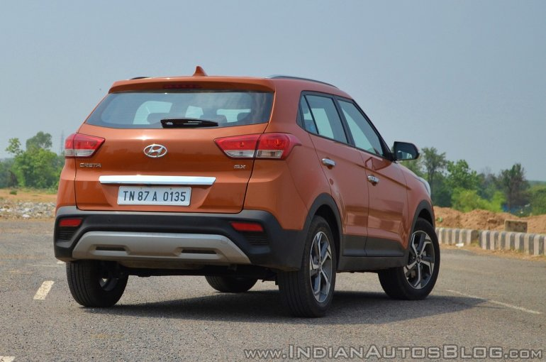 2018 Hyundai Creta facelift review rear angle