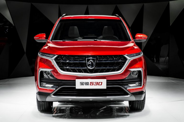 upcoming SUVs in India in next 12 months - Baojun 530 front