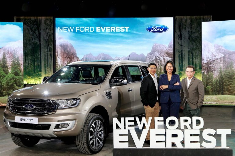 Facelifted Ford Everest (Facelifted Ford Endeavour) Thai launch
