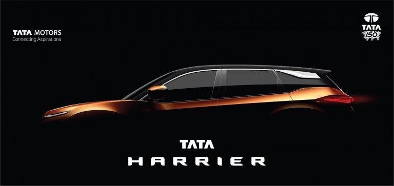Tata Harrier teaser image side