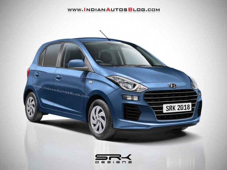 upcoming small cars in india in 12 months - Hyundai AH2 (2019 Hyundai Santro) IAB rendering
