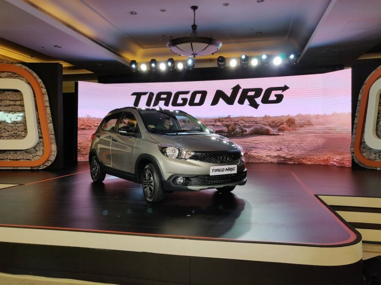 Tata Tiago Nrg Front Three Quarters Launch Event