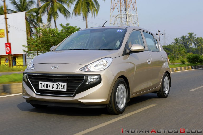 2018 Hyundai Santro Review Images Front Three Quat