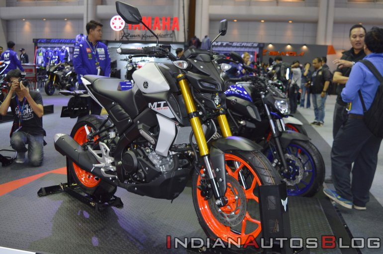 2019 Yamaha MT-15 Front Right Quarter Thai Motor Expo 2018