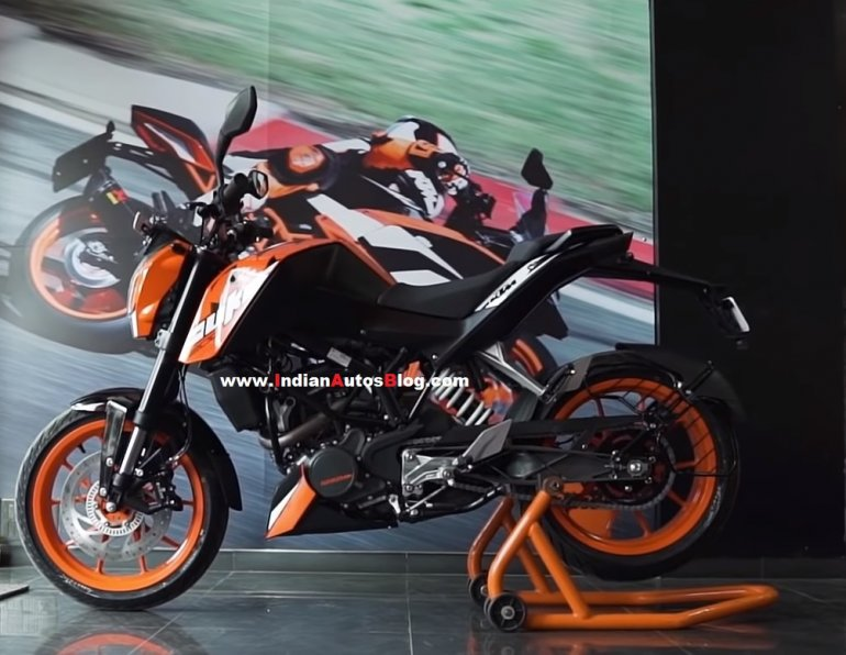 Ktm 200 Duke Abs Side Profile