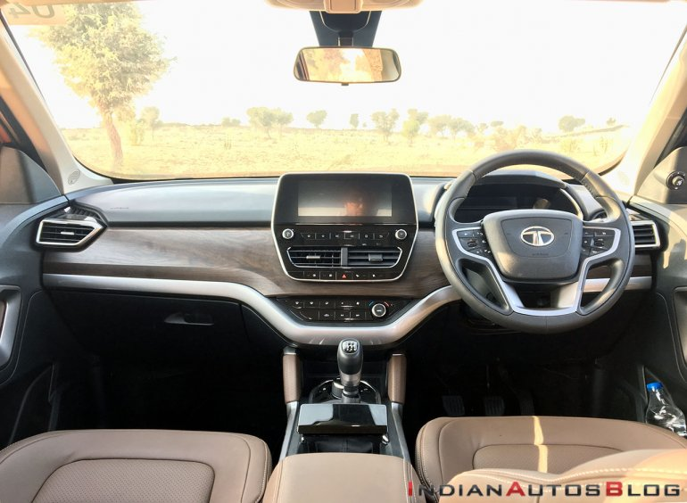 Tata Harrier Test Drive Review Interior Dashboard